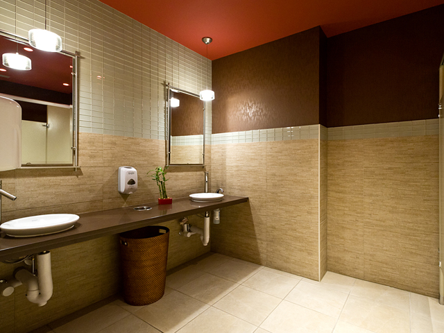 Commercial restroom michael menn ltd architecture for Bathroom design restaurant
